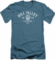 Back To The Future slim-fit t-shirt Hill Valley 1955 mens slate