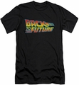 Back To The Future slim-fit t-shirt Logo mens black