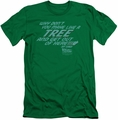 Back To The Future slim-fit t-shirt Make Like A Tree mens kelly green