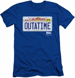 Back To The Future slim-fit t-shirt Outatime Plate mens royal