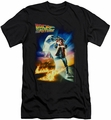 Back To The Future slim-fit t-shirt Poster mens black