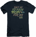 Back To The Future slim-fit t-shirt Say Hi mens navy