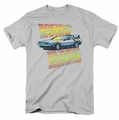 Back To The Future t-shirt 88 Mph mens silver