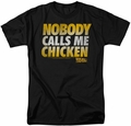Back To The Future t-shirt Chicken mens black
