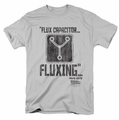 Back To The Future t-shirt Fluxing mens silver