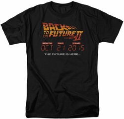 Back To The Future t-shirt Future Is Here mens black