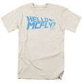 Back To The Future t-shirt Hello Mcfly mens cream