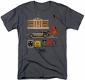 Back To The Future t-shirt Items mens charcoal