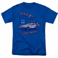 Back to the Future t-shirt Ligtning Strikes mens royal