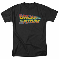Back To The Future t-shirt Logo mens black
