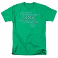 Back To The Future t-shirt Make Like A Tree mens kelly green