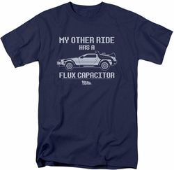 Back To The Future t-shirt Other Ride mens navy