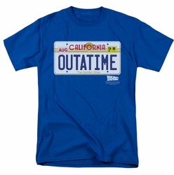 Back To The Future t-shirt Outatime Plate mens royal