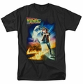 Back To The Future t-shirt Poster mens black