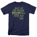 Back To The Future t-shirt Say Hi mens navy