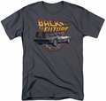 Back To The Future t-shirt Time Machine mens charcoal