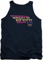 Back To The Future tank top Great Scott mens navy