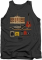 Back To The Future tank top Items mens charcoal