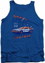 Back To The Future tank top Lightning Strikes mens royal