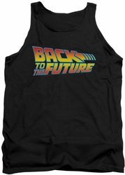 Back To The Future tank top Logo mens black