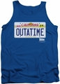 Back To The Future tank top Outatime Plate mens royal