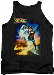 Back To The Future tank top Poster mens black