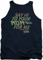 Back To The Future tank top Say Hi mens navy