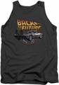 Back To The Future tank top Time Machine mens charcoal
