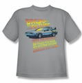 Back To The Future youth teen t-shirt 88 MPH silver