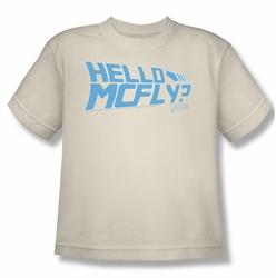 Back To The Future youth teen t-shirt Hello Mcfly cream