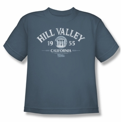 Back To The Future youth teen t-shirt Hill Valley 1955 slate