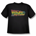 Back To The Future youth teen t-shirt Logo black