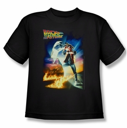 Back To The Future youth teen t-shirt Poster black