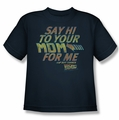 Back To The Future youth teen t-shirt Say Hi navy