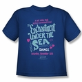 Back To The Future youth teen t-shirt Under The Sea royal