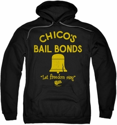 Bad News Bears pull-over hoodie Chico's Bail Bonds adult black