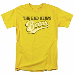 Bad News Bears t-shirt Logo mens yellow