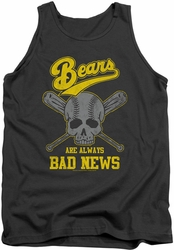 Bad News Bears tank top Always Bad News mens charcoal