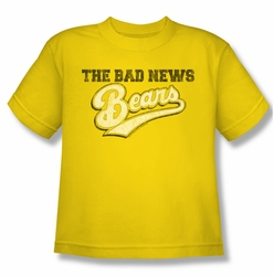 Bad News Bears youth teen t-shirt Logo yellow