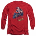 Bane adult long-sleeved shirt Attack! red