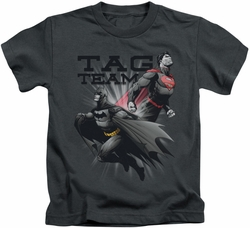 Batman kids t-shirt Tag Team charcoal