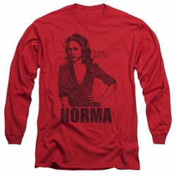 Bates Motel adult long-sleeved shirt Norma red