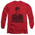Bates Motel adult long-sleeved shirt Norman red