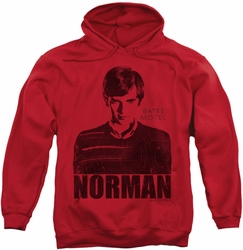 Bates Motel pull-over hoodie Norman adult red