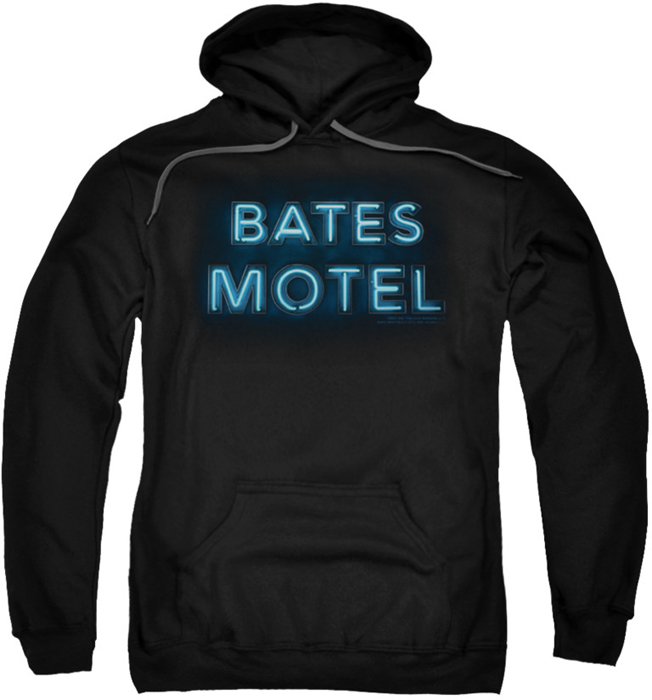 Pull Over Sign : Bates motel pull over hoodie sign logo adult black