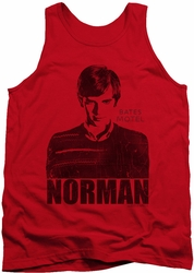 Bates Motel tank top Norman mens red