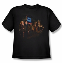 Bates Motel youth teen t-shirt Cast black