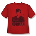 Bates Motel youth teen t-shirt Norman red