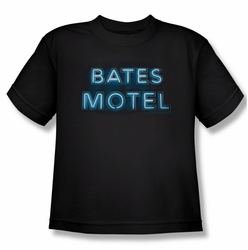 Bates Motel youth teen t-shirt Sign Logo black