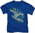 Batgirl kids t-shirt The Night Is Young royal